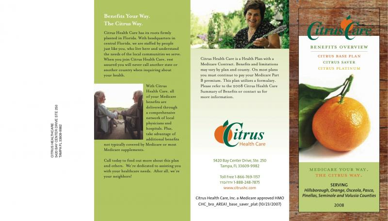 Trifold brochure sample of a created for national pictures for Sample pamphlets